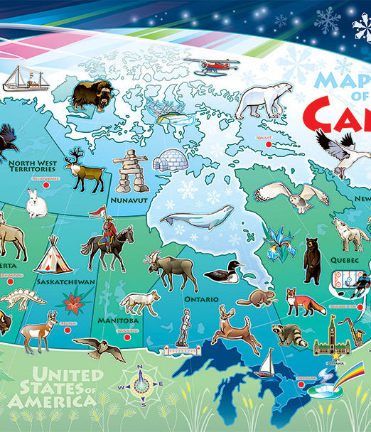 Map of Canada Floor Puzzle