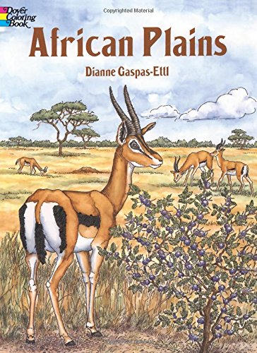 African Plains Colouring Book