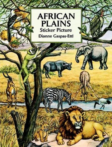 African Plains Sticker Picture Book