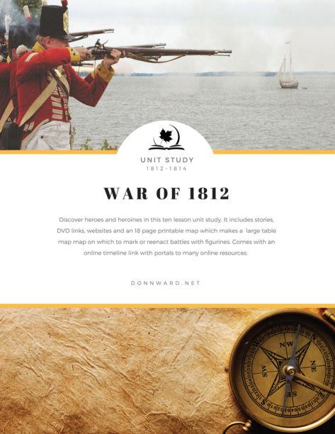 War of 1812 Unit Study Ebook