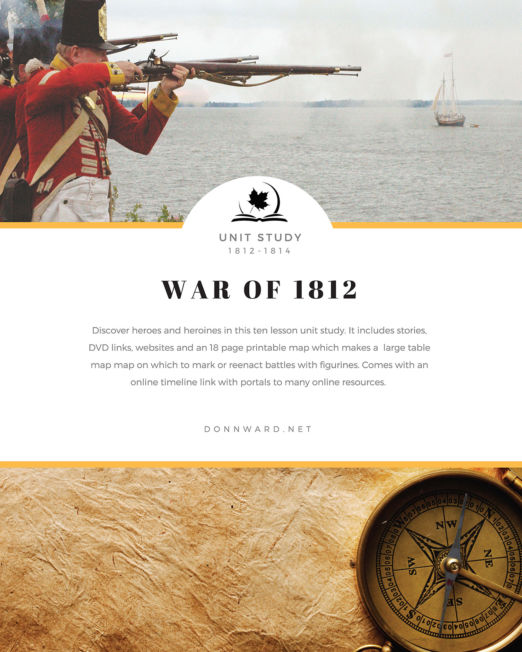 War of 1812 Unit Study Ebook
