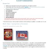 Grade 1: Local Communities Course (Mitchell Made)