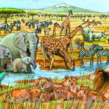 Out of Africa Tray Puzzle