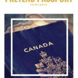 Pretend Passport Printables