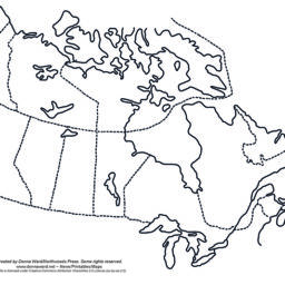 Outline Maps of Canada and The Provinces Blog